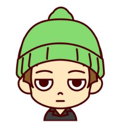 緑の帽子の子
