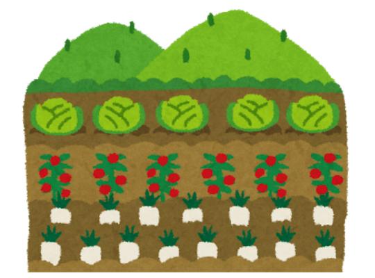 畑のイラスト