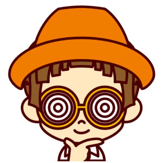 サイトキャラクターオレンジ帽子の子
