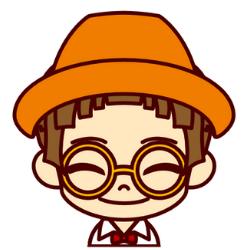 オレンジの帽子の子が満面の笑み