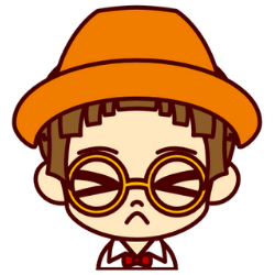 オレンジの帽子の子