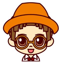 オレンジの帽子の子が話している