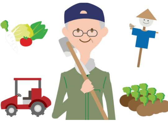 農家のおじさんのイラスト