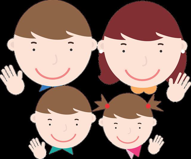 家族のイラスト