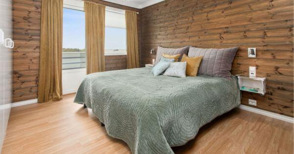 明るい寝室の写真