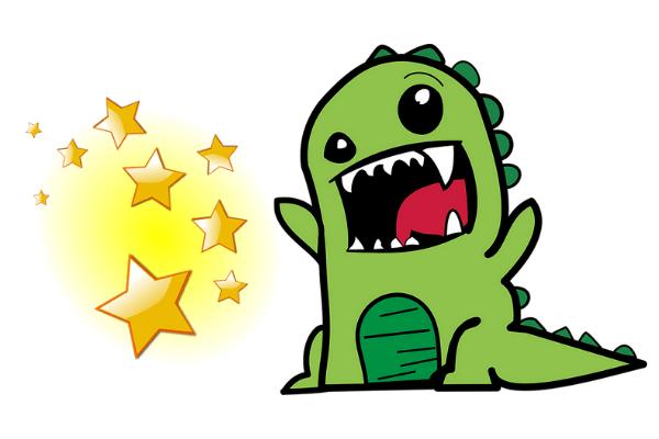 恐竜のかわいいイラスト
