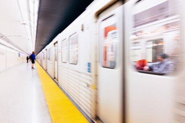 地下鉄の写真