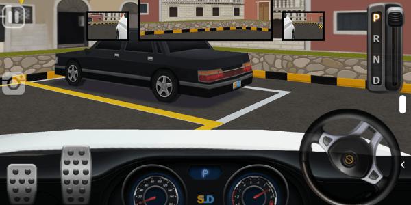 車内から見た駐車場のイラスト