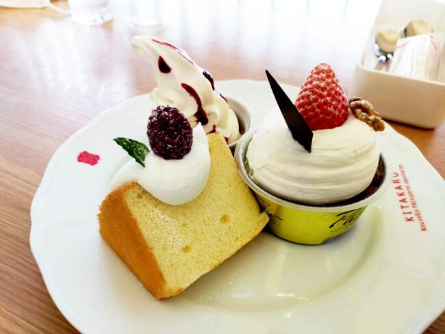 北菓楼のシフォンケーキ
