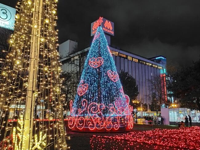 札幌のクリスマスツリー