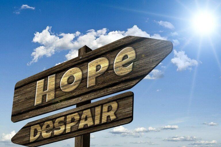 希望の標識の写真